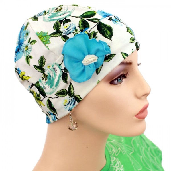 1920s Collection  - Summer Flowers - Hello Courage | Chemo Hats - Cancer Caps - Cancer Scarves - Headcovers - Cancer Beanies - Headwear for Hair Loss - Gifts for  Cancer Patients with Hair Loss - Alopecia