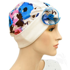 1920s Collection - Off White with Color - Hello Courage | Chemo Hats - Cancer Caps - Cancer Scarves - Headcovers - Cancer Beanies - Headwear for Hair Loss - Gifts for  Cancer Patients with Hair Loss - Alopecia