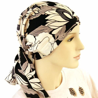 Designer Collection Scarf- European Fabric -  Casablanca - Spring - Hello Courage | Chemo Hats - Cancer Caps - Cancer Scarves - Headcovers - Cancer Beanies - Headwear for Hair Loss - Gifts for  Cancer Patients with Hair Loss - Alopecia