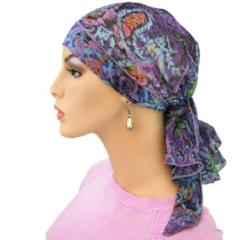 Designer Collection Pre-Tied Scarf -  Sunrise Spectacular BESTSELLER - Hello Courage | Chemo Hats - Cancer Caps - Cancer Scarves - Headcovers - Cancer Beanies - Headwear for Hair Loss - Gifts for  Cancer Patients with Hair Loss - Alopecia