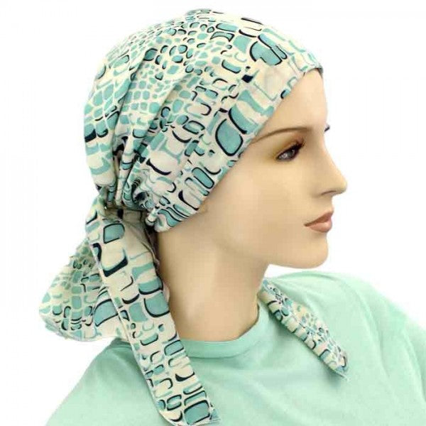 Designer Collection Pre Tied  Scarf ....Summer Skies