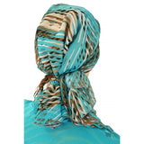 Designer Collection Pre Tied Cotton Scarf ...Carribbean Skies