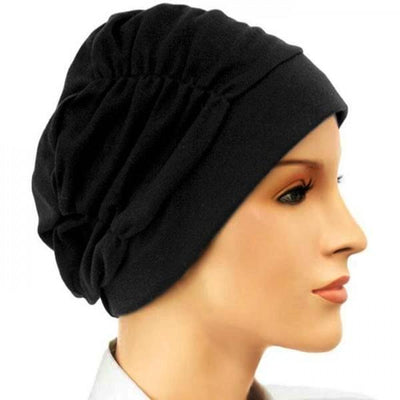 Gathered in Glory  - Black BESTSELLER - Hello Courage | Chemo Hats - Cancer Caps - Cancer Scarves - Headcovers - Cancer Beanies - Headwear for Hair Loss - Gifts for  Cancer Patients with Hair Loss - Alopecia