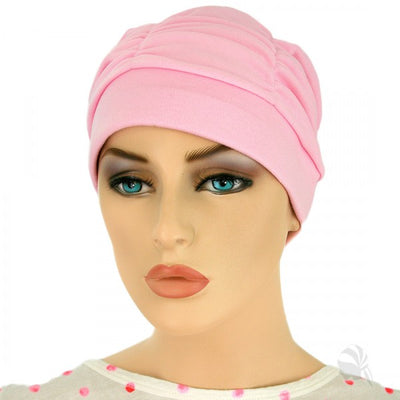 Gathered in Glory  -  Pink - Hello Courage | Chemo Hats - Cancer Caps - Cancer Scarves - Headcovers - Cancer Beanies - Headwear for Hair Loss - Gifts for  Cancer Patients with Hair Loss - Alopecia