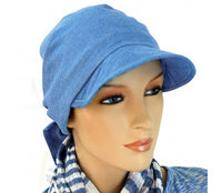 SUN HAT with Visor  - Adjustable - Denim