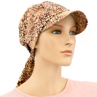 SUN HAT with Visor  - Adjustable - Tonal Summer Browns