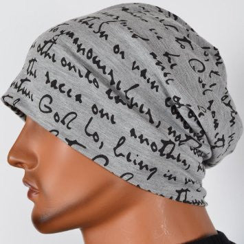 Men's Collection - Gray Black Inspirational Cap