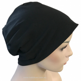 Slouchy Beanie in Black - Hello Courage | Chemo Hats - Cancer Caps - Cancer Scarves - Headcovers - Cancer Beanies - Headwear for Hair Loss - Gifts for  Cancer Patients with Hair Loss - Alopecia