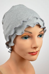 Cozy Fringe - Light Gray-POPULAR - Hello Courage | Chemo Hats - Cancer Caps - Cancer Scarves - Headcovers - Cancer Beanies - Headwear for Hair Loss - Gifts for  Cancer Patients with Hair Loss - Alopecia