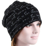Inspirational - Black with Gray - Hello Courage | Chemo Hats - Cancer Caps - Cancer Scarves - Headcovers - Cancer Beanies - Headwear for Hair Loss - Gifts for  Cancer Patients with Hair Loss - Alopecia