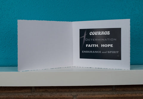 A Cancer Patient Encouragement Inspiration Extra Large Card Gift FREE SHIPPING Courage