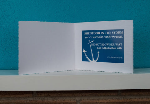 A Cancer Patient Encouragement Inspiration Extra Large Card Gift FREE SHIPPING Storm