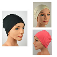 Cozy Collection - 3 hats - Black, Coral, Creamy White