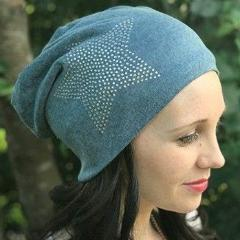 e72dcaee0956d ... Cozy Collection Blue Star Rhinestone Slouchy Beanie - Hello Courage