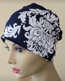 Energy Beanie - Navy Blue White - Small / Medium and Large