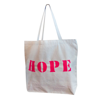 Canvas TOTE BAG - HOPE - includes inspirational magnet