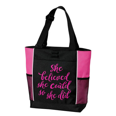 TOTE BAG - Large - She Believed She Could So She Did