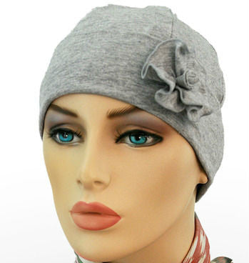 1920s Collection - Light Gray - Bestseller - Hello Courage | Chemo Hats - Cancer Caps - Cancer Scarves - Headcovers - Cancer Beanies - Headwear for Hair Loss - Gifts for  Cancer Patients with Hair Loss - Alopecia