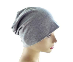 Gray Heather Slouchy Beanie - Size Medium - Hello Courage | Chemo Hats - Cancer Caps - Cancer Scarves - Headcovers - Cancer Beanies - Headwear for Hair Loss - Gifts for  Cancer Patients with Hair Loss - Alopecia