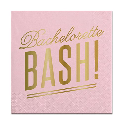 SLANT Collections Foil Beverage Napkins - Bachelorette Bash - Spinout