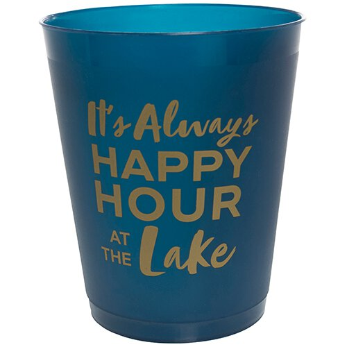 SLANT Collections Cocktail Party Cups - Happy Hour at the Lake