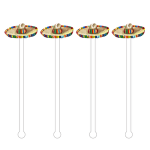 SOMBRERO HAT ACRYLIC STIR STICKS