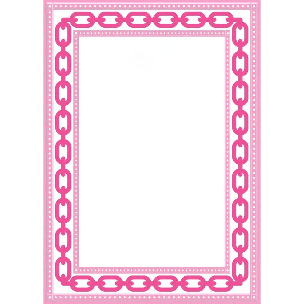 WH HOSTESS PINK CHAIN LINK BORDER NOTEPAD