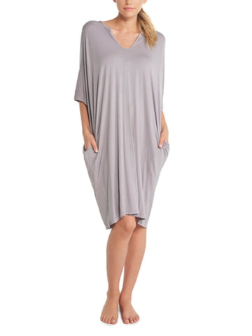 Barefoot Dreams Luxe Milk Jersey - Short Caftan - Pewter