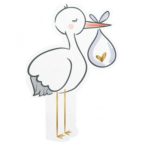 SLANT Collection Stork Die Cut Napkins - Spinout