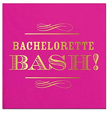 SLANT Collections Beverage Napkins - Bachelorette Bash! - Spinout