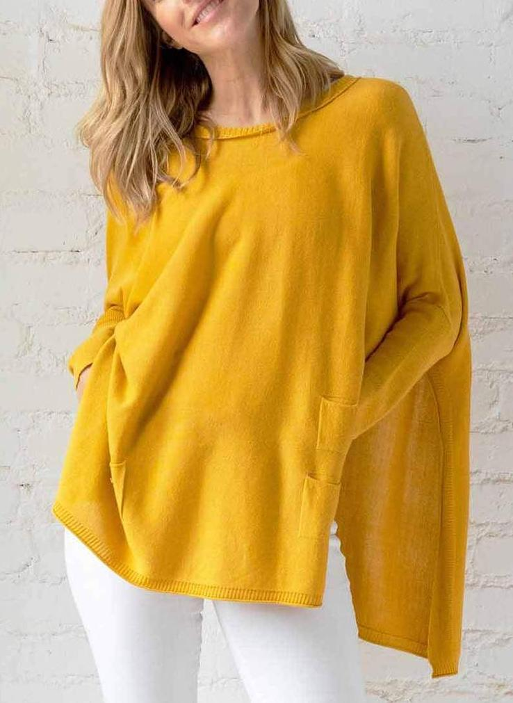 Mer-Sea & Co. Catalina Travel Sweater - Mustard