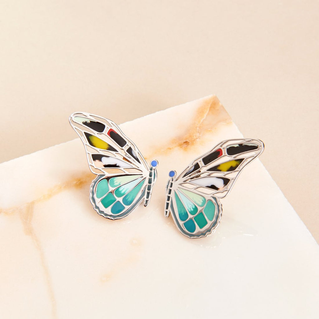 Mignonne Gavigan - Mixed Butterfly Stud Earrings - Turquoise