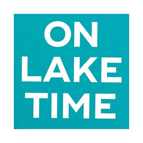 SLANT Collections Beverage Napkins - On Lake Time