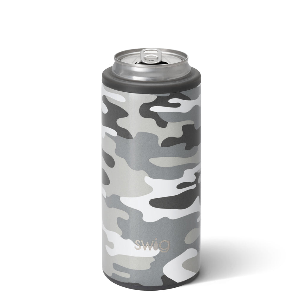 Swig Skinny Can Cooler 12oz. - Incognito Camo