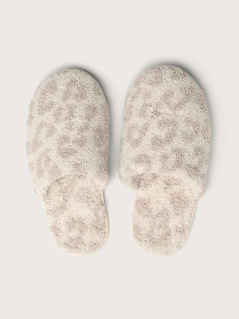 CozyChic® Barefoot In The Wild Slipper  - Cream/Stone