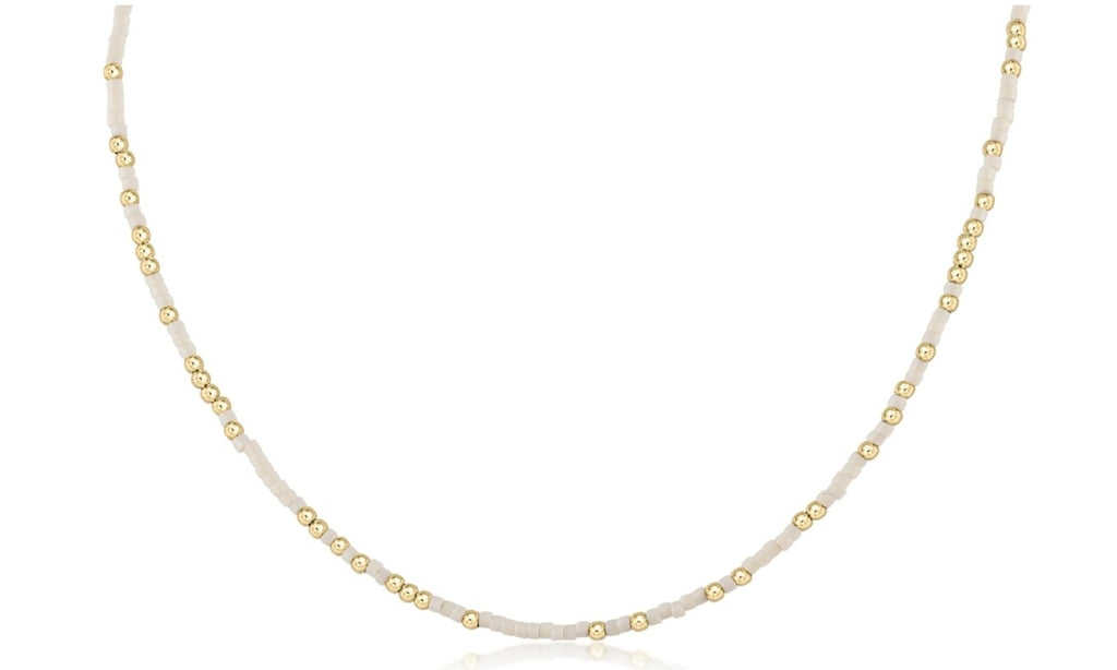 "eNewton - 15"" Choker Hope Unwritten - Off-White"
