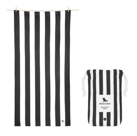Dock & Bay Quick Dry Cabana Towel - Kamari Charcoal