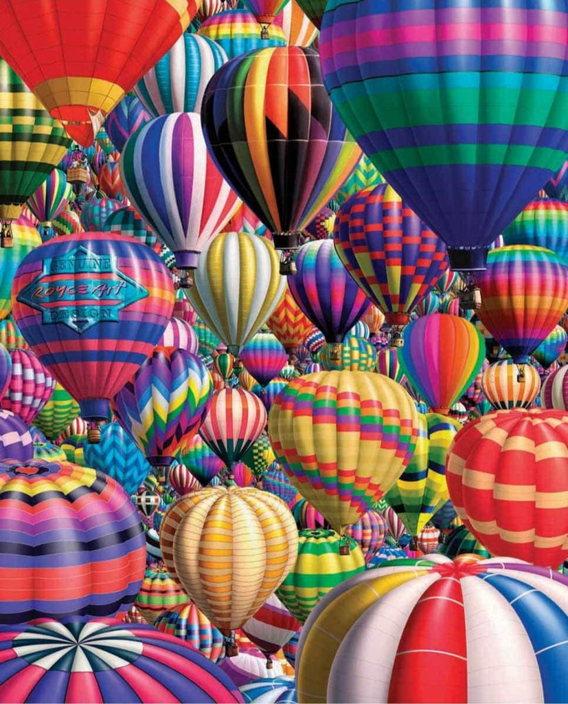 White Mountain - Hot Air Balloons - 1000 Piece Jigsaw Puzzle