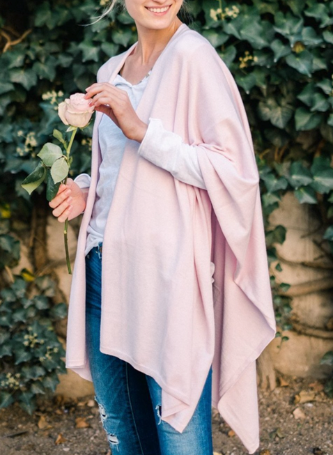 Mer-Sea & Co.  Charleston Travel Wrap - in Blush - Spinout