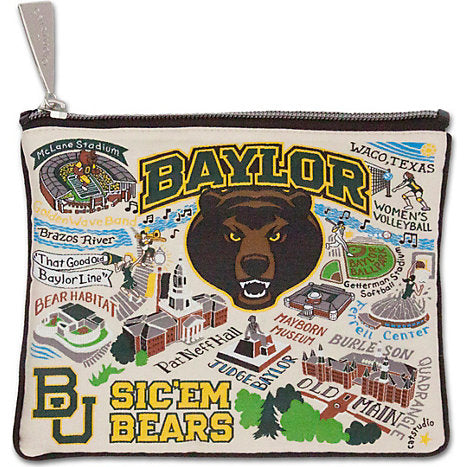 Collegiate Embroidered Pouch - Baylor University - Spinout