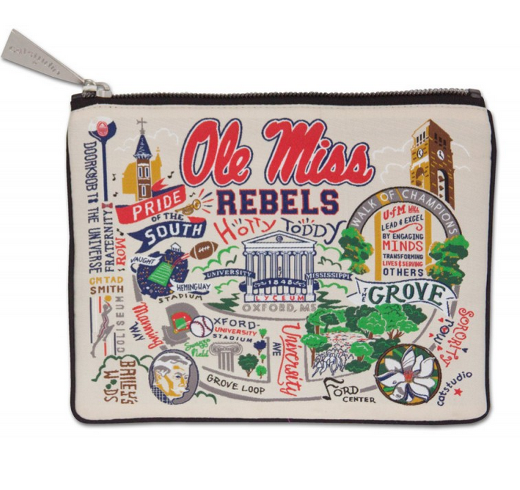 Collegiate Embroidered Pouch - Ole Miss - Spinout