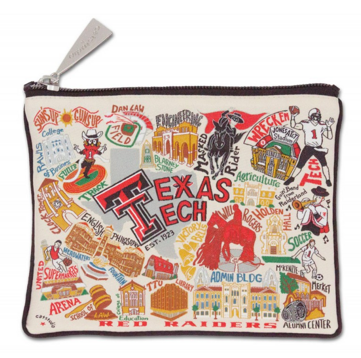 Collegiate Embroidered Pouch - Texas Tech University - Spinout