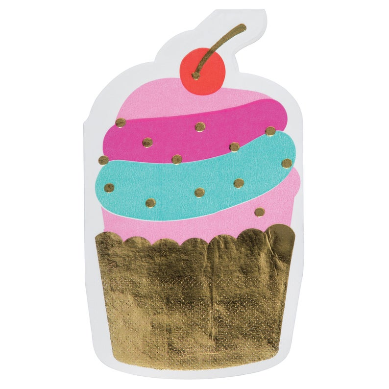 SLANT Collections Die Cut Napkins - Cupcake - Spinout