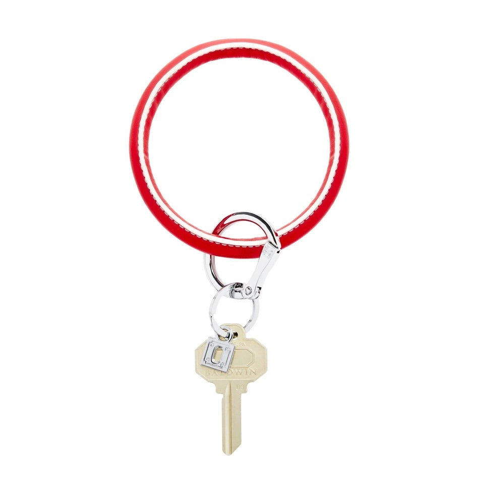 O-Venture - Leather Big O Key Ring - White Cherry
