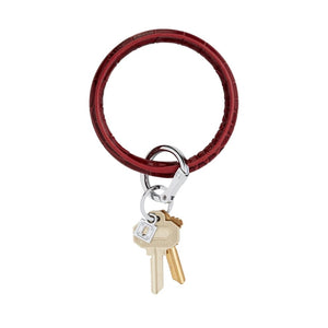 O-Venture - Leather Big O Key Ring - Merlot Croc