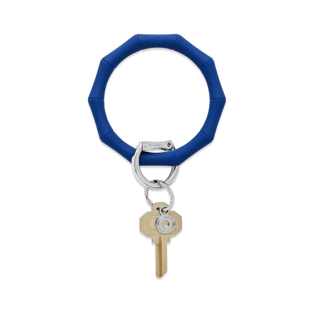 O-Venture - Silicone Big O Key Ring - Midnight Navy Blue Bamboo