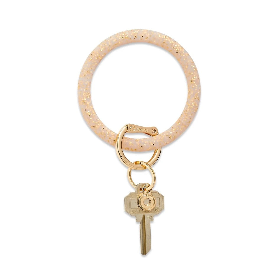 O-Venture - Silicone Big O Key Ring - Gold Rush Confetti