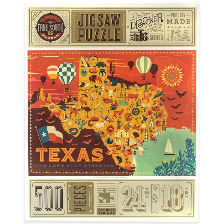 True South - Texas 500 Piece Jigsaw Puzzle