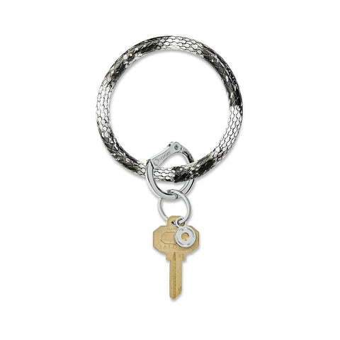 O-Venture - Leather Big O Key Ring - Tuxedo Snakeskin