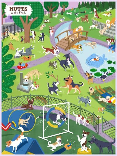 True South - Mutts in the Park 500 Piece Puzzle